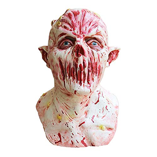 Yachee Halloween Mask, Creepy Novelty Horror Zombie Full Head Deluxe Latex Mask Halloween Cosplay Prank Props - Gollum