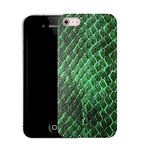 Mobile Case Mate IPhone 4 4S clip on Dur Coque couverture case cover avec Stylet - green animal skin Motif