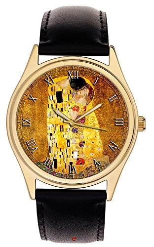 Gustav Klimt The Kiss - Reloj de pulsera coleccionable de colores vivos