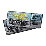 theatre ticket album - Logo patch embroidered)ID 8562 Pair Two Show Tickets Movie Theatre Embroidered Iron On Applique Patch+ E-book with pictures
