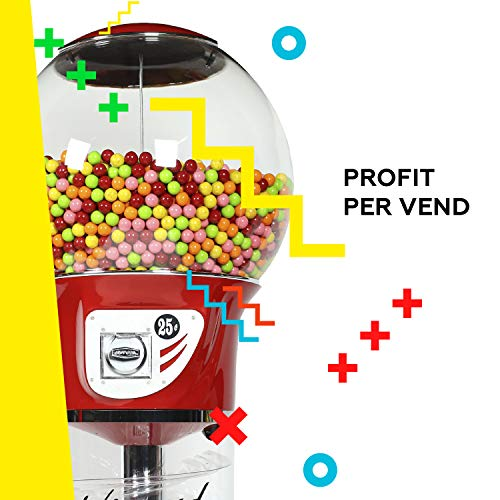 Giant Wizard Spiral Gumballs Vending Machine Height 5'6'' - $0.25 - for Gumballs (Yellow) by Global Gumball (Image #4)