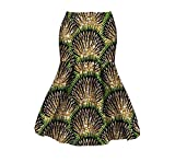 Abetteric Women Batik Dashiki Short Mermaid Africa Cotton Sexy Bodycon Skirt 18 S
