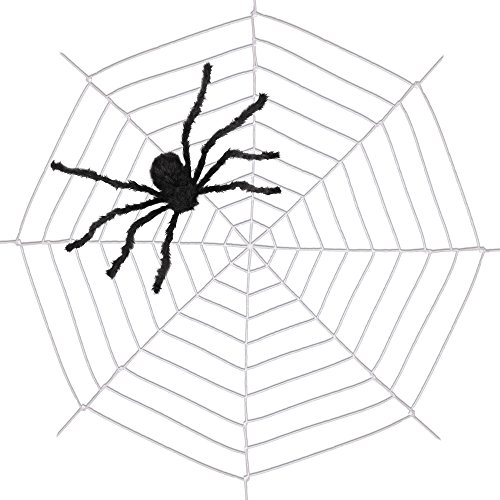 9.85ft Spiders Web,Amyhomie Spider Web for Halloween,Best Halloween Decorations]()