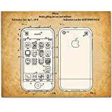iPhone - 11x14 Unframed Patent Print - Makes a Great Gift Under $15 for Steve Jobs Fans