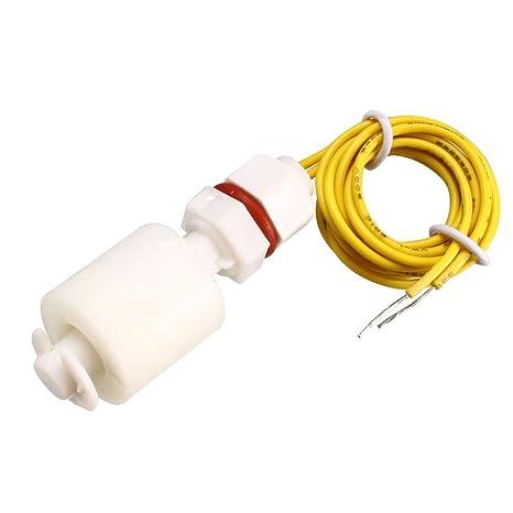 sourcing map Interruptor de flotador de PP M8 46mm Pecera Vertical de plástico del sensor de