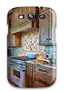 New Premium PuriuKn9979tgWMy Case Cover For Galaxy S3/ Kitchen With Tiered Wooden Cabinets Amp Viking Range Protective Case Cover