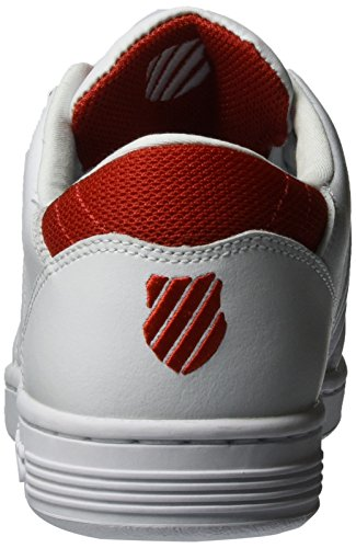 K-swiss Mænd Lozan Iii Tt Sneaker, Hvid, 45,5 Eu Hvid (hvid / Rød Fyrig)