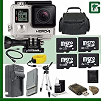 GoPro HERO4 BLACK 4K Action Camera + 128GB Greens Camera Bundle 8