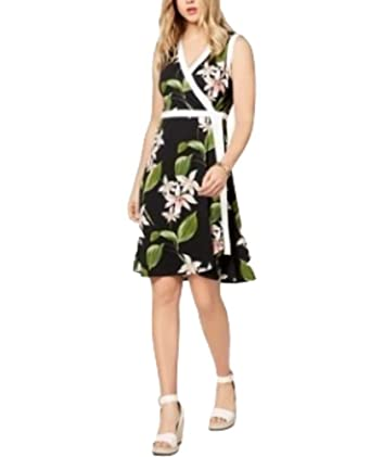 5f33269a18f Image Unavailable. Image not available for. Color: Tommy Hilfiger Floral-Print  Wrap Dress ...