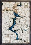 Lake Coeur d'Alene 3D Wood Map with Hayden Lake & Spokane River - Custom Made