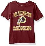 "OuterStuff NFL Youth Boys""Gridiron Hero"" Short Sleeve Tee-Garnet-S(8), Washington Redskins"