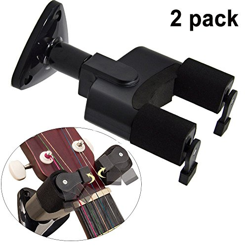 2 Pack-WINGO Guitar Hanger Rack Hook Holder Wall Mount For Home & Studio - Swing Electric Guitar