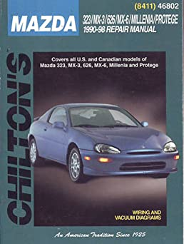 mazda 323 mx 3 626 mx 6 millenia protege 1990 98 chilton s total rh amazon com 1998 Mazda Millenia 2.5 Timing 2001 Mazda Millenia