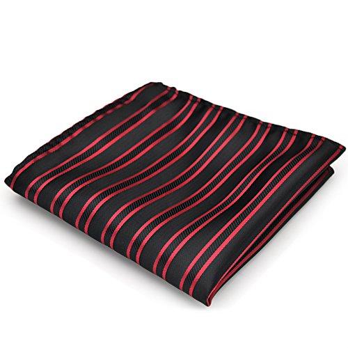 PenSee formelle & Red Stripe noire noeud Papillon prénoué et 1 mouchoir de poche Cummerbund & & pièces (Import Allemagne)
