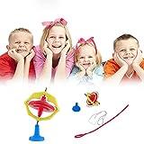 Sealive 2pcs Magic UFO Gyroscope Children Toys Nostalgic Pak with LED Light Toys Creative Luminous Toys