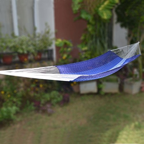 MHS-104.BL Mexican Hammock-Single- Blue - Soft And