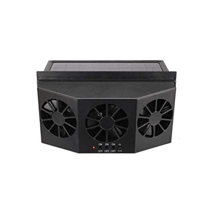 Amazon com: PROKTH Solar Car Cool Fan Cooler Auto Front/Rear