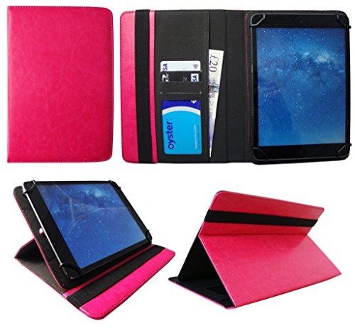 Sweet Tech Universal Wallet Case Cover Folio Pink suitable for EGL 10.1 Inch Tablet