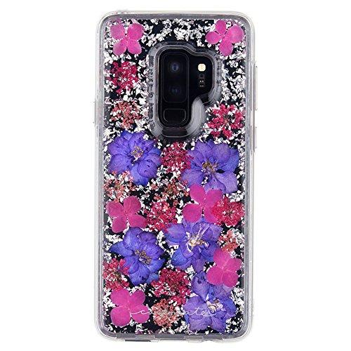 Case-Mate - Samsung Galaxy S9+ Case - KARAT PETALS - Made with Real Flowers - Slim Protective Design - Purple Petals ()