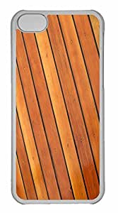 iPhone 5C Case, Personalized Custom Wood Background for iPhone 5C PC Clear Case
