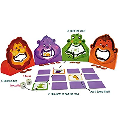 Chalk and Chuckles Hungry Four, (3-7 Years) Preschool Memory Cooperative Game, Educational and Movement Activity for Kids: Toys & Games