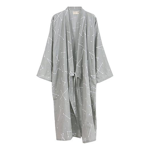 Fancy Pumpkin Bata de algodón Japonesa para Hombre Bata de Kimono de Pijama - # 0B: Amazon.es: Ropa y accesorios