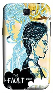 Online Designs fault in our stars lonely girl PC Hard new case galaxy note2 cover