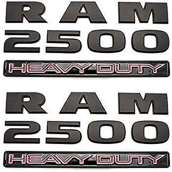 2x OEM Black RAM 2500 HEAVY DUTY  Dodge  RAM Emblem Badge 3D Y Mopar 68276961AA