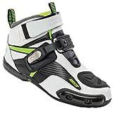 Joe Rocket Atomic Men's Motorcycle Riding Boots/Shoes (White/Hi-Viz, Size 11)