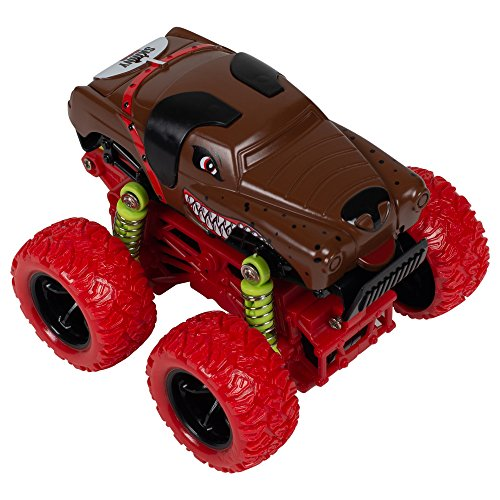 Master Toys & Novelties Skinny Dog Mini Quad Racer Red/Brown 4WD 4x4 S Plus Plastic 3.5 x 3 Inch Monster Rally Car Toy