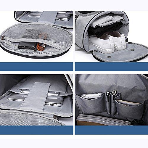 capacité Gris Femelle Voyage Sac randos dos a noir Sac D'affaires dos Durable Grande Pour Nclon a D'affaires Inch Camping Voyage Vintage laptop Sac Homme Silencieux ZOEgqY