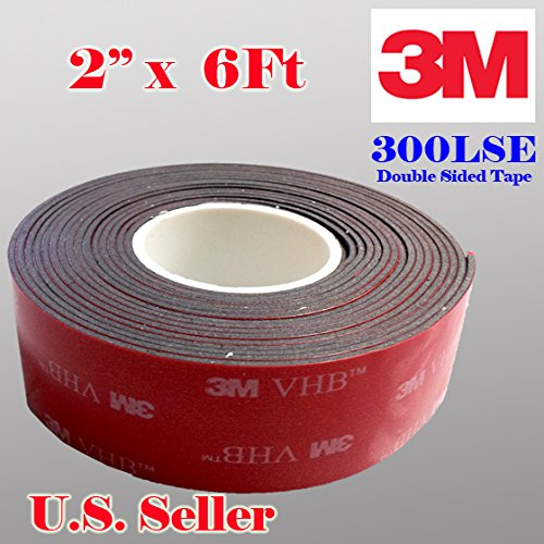 3m 2 (50mm) X 6 Ft VHB Double Sided Foam Adhesive Tape 5952 Grey Automotive Mounting Very High Bond Strong Industrial Grade