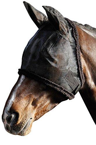 Harry's Horse 31300001-l Fliegennetz Gesichtsmaske Inklusiv Ohren mit Syntetic Fell, L