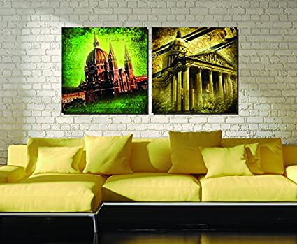 Amazon.com: Nordic Style Church Buildings View Oil Canvas Paintings ...