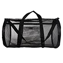 Dive Bag - Heavy Duty Mesh Duffel Bag, Features Storage Pouch for Diving, Scuba, Snorkel, Swim, Surf, Sports & More