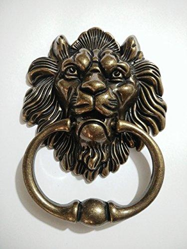 Lion Door Knocker Lion Head Beautiful Lion Mouth Accessories Gate Antique Bronze (Lion Bronze)