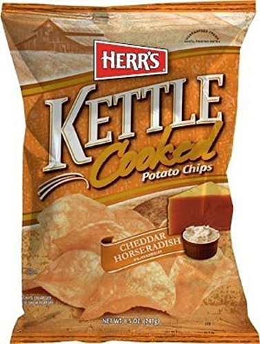(Herr's Cheddar Horseradish Kettle Chips, 8 Ounce ( Pack May Vary ))