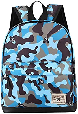 7f0733598ae Hmlai Boys Girls Back to School Fashion Camouflage Print Backpack Toddler School  Bags