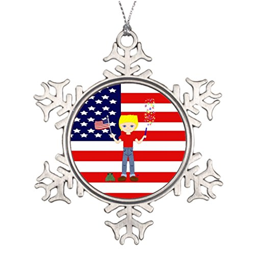 Take_U Ideas For Decorating Christmas Trees Dennis Celebrates 4th of July Customized Snowflake Ornaments -