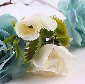 Butterme Baby M/ädchen and Damen Eltern-Kind Haarband Blumen-Stirnband Boho Blumenstirnband Haarband f/ür Festival Hochzeits-Geburtstag-Partei