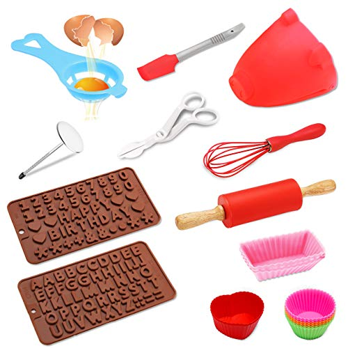 Kids Baking Real Cupcake Baking Cake Decorating Kit,Perfect for Girls Teens Beginners Teenagers