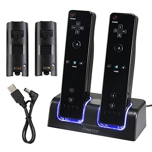 Insten Dual Charging Station w/ 2 Rechargeable Batteries & LED...