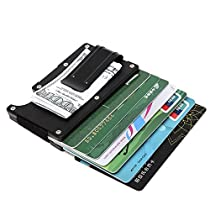 Artmi Aluminum Slim Wallet Front Pocket Wallet & Money Clip Minimalist Wallet RFID Blockin