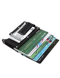 Artmi Aluminum Slim Wallet Front Pocket Wallet & Money Clip Minimalist Wallet RFID Blockin
