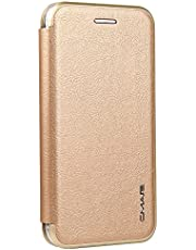 iPhone 7 8 6 6s Plus X XS Max XR Samsung Galaxy S7 Edge S8 S9 Plus Étui folio Portefeuille en cuir avec fente pour carte, case cover housse de protection avec fonction support