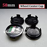 Hanway 4PC 58mm JAGUAR R LOGO Wheel Center Caps JAGUAR 56 Emblem Badge Sticker For XJ XJR XJ6 XF X S TYPE Wheel Center Covers (58mm wheel cap, R)