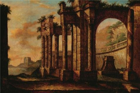 High Quality Polyster Canvas ,the Amazing Art Decorative Prints On Canvas Of Oil Painting 'the Ancient City At Dusk', 10x15 Inch / 25x38 Cm Is Best For Bathroom Gallery Art And Home Gallery Art And Gifts