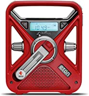 American Red Cross Emergency NOAA Weather Radio with USB Smartphone Charger, LED Flashlight & Red Be