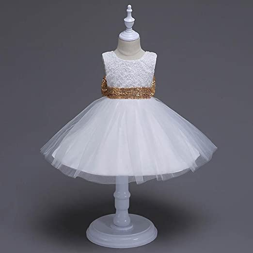 Btruely Herren 🍁 Ropa bebé Cotton Blend Vestidos para Niña sin Mangas Verano Vestidos Floral Princesa Fiesta Vestido de Novia para Cumpleaños Dress: ...