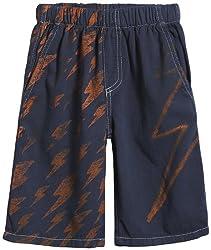 City Threads Big Boys' Lots O' Bolts Shorts (Toddler/Kid) - Midnight - 12